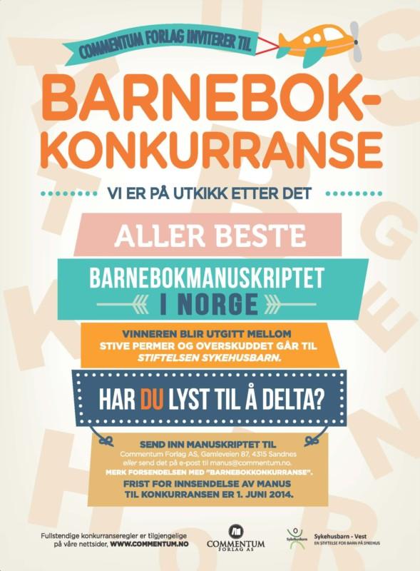 Commentum forlag inviterer til barnebokkonkurranse!