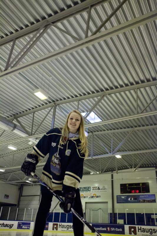 Ungt hockeytalent på Nærbø Farmers
