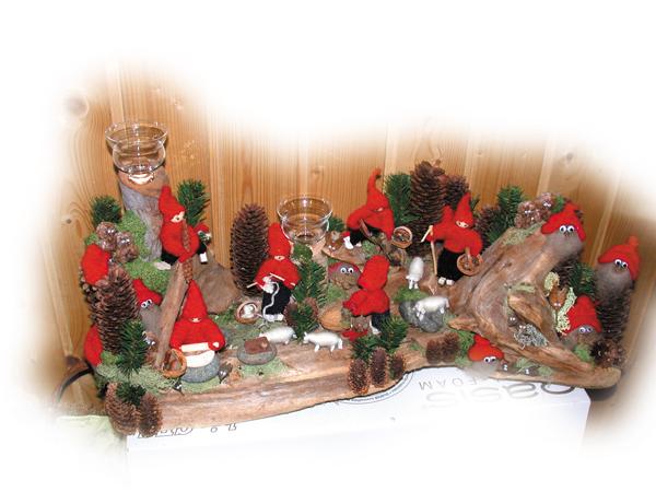 Med naturen som hjelpemiddel til juledekorasjoner
