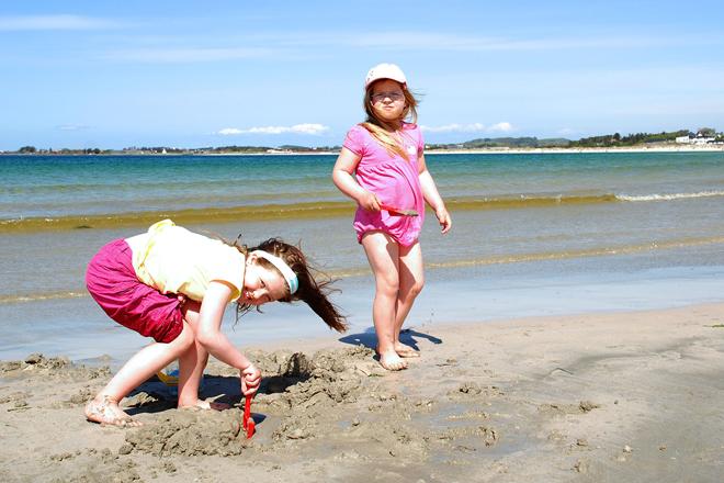Strandliv på Sola